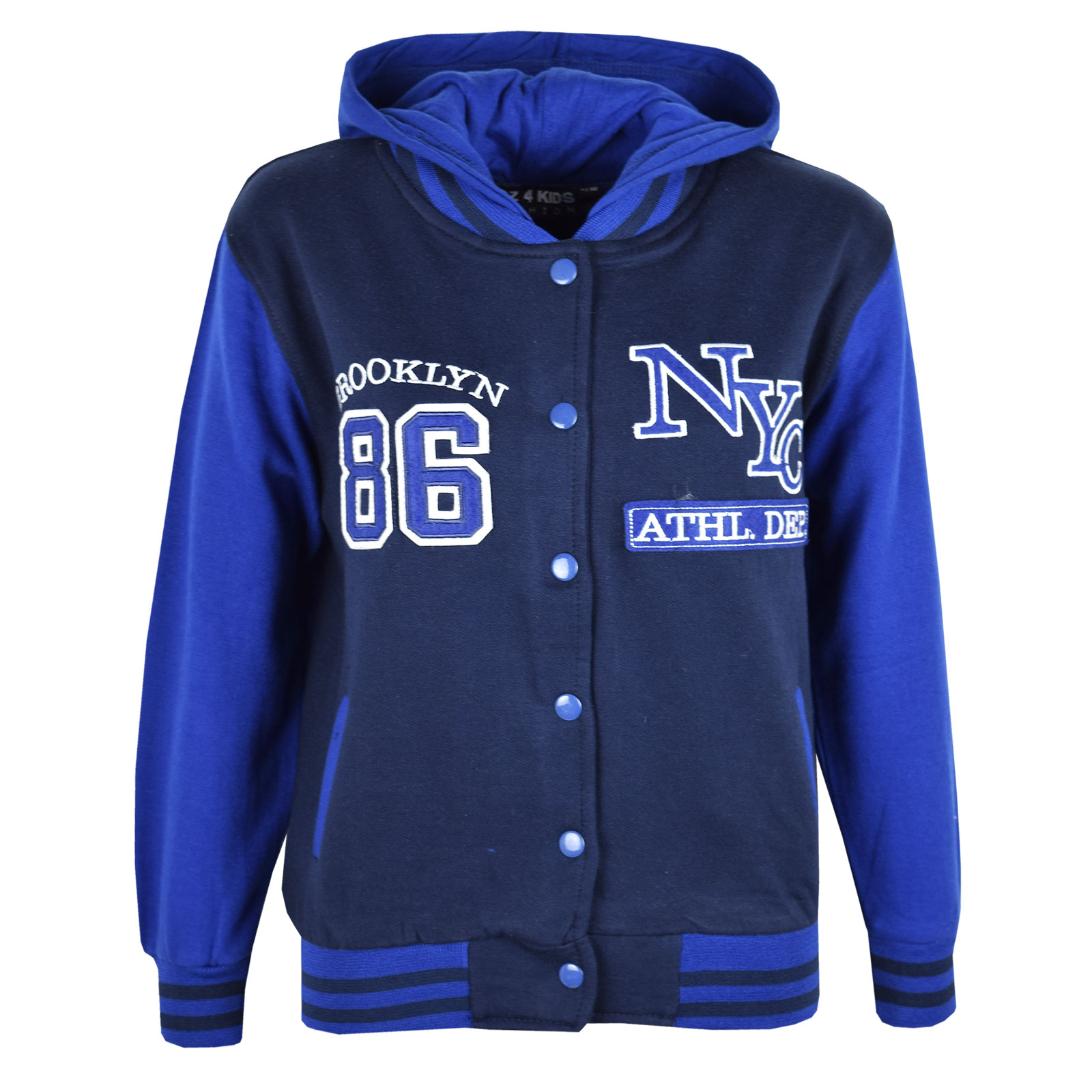 kids girls boys baseball jacket varsity style plain school jackets top year see more like this JH Design - MLB Kids Reversible Varsity / Baseball Style Jacket - Oakland A's Brand New.