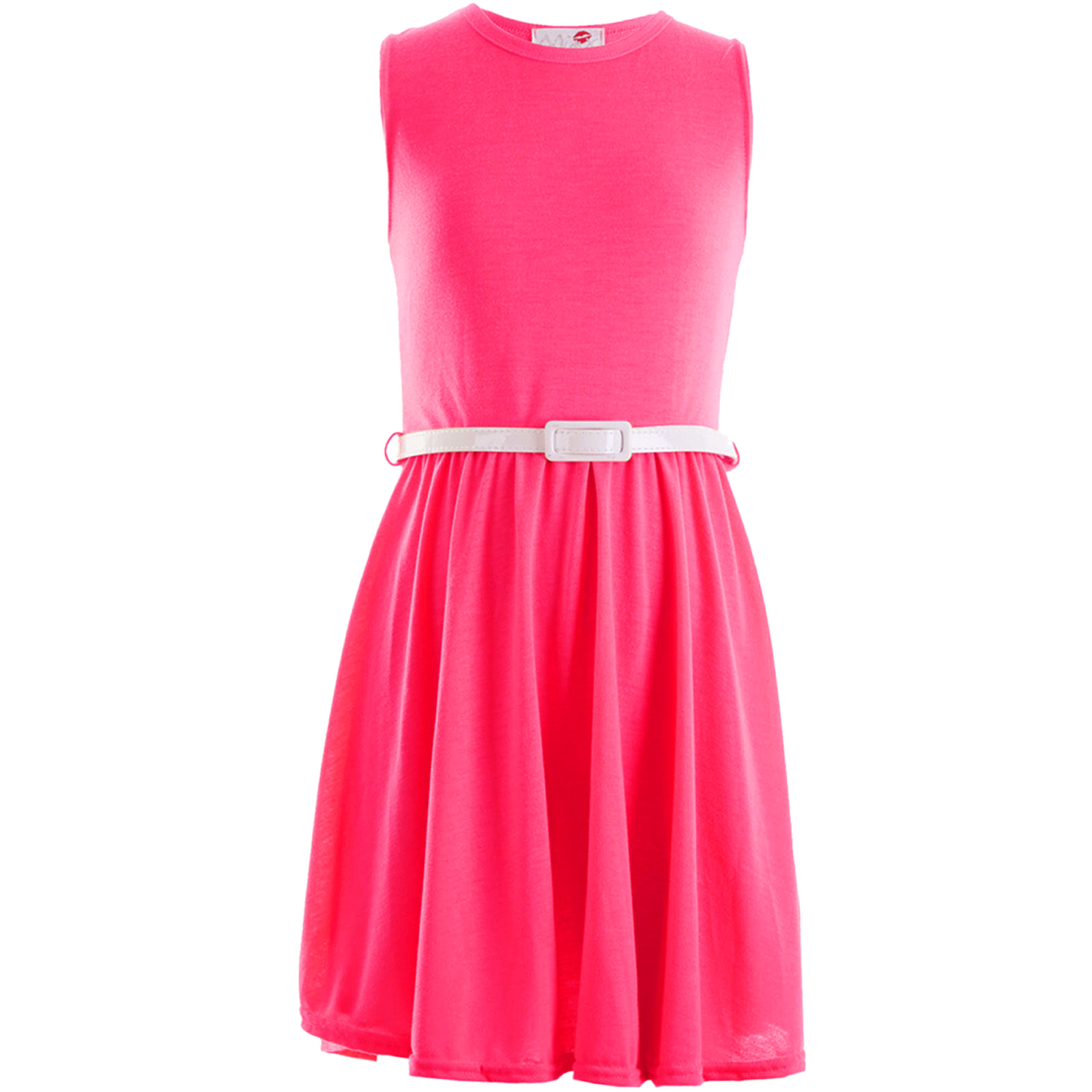 Girls Skater Dress Kids Neon Bright Holiday Party Dresses 7 8 9 10 ...