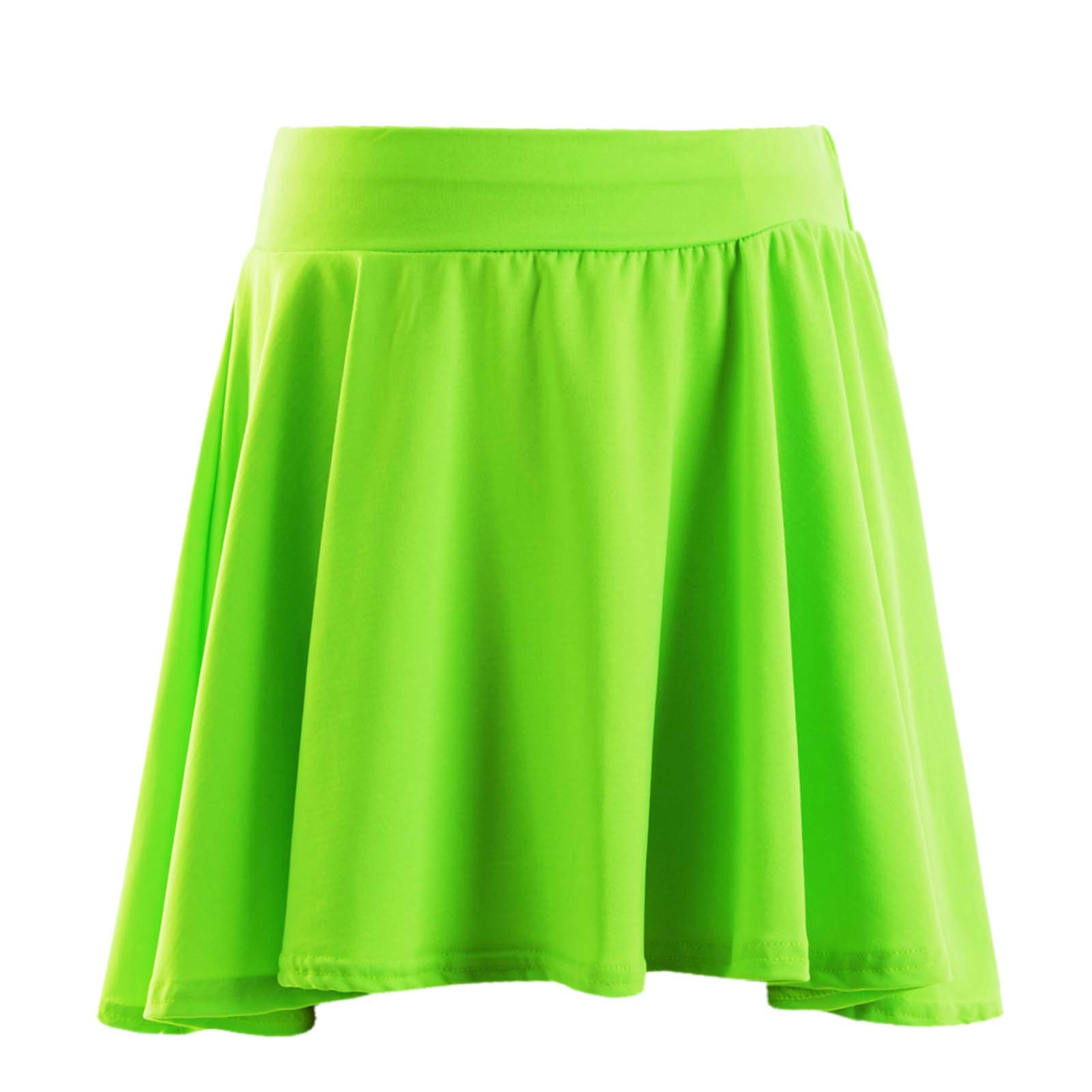 Girls Skater Skirt Kids Neon Bright Mini Fashion Skirts 7 8 9 10 11 12 13 Years