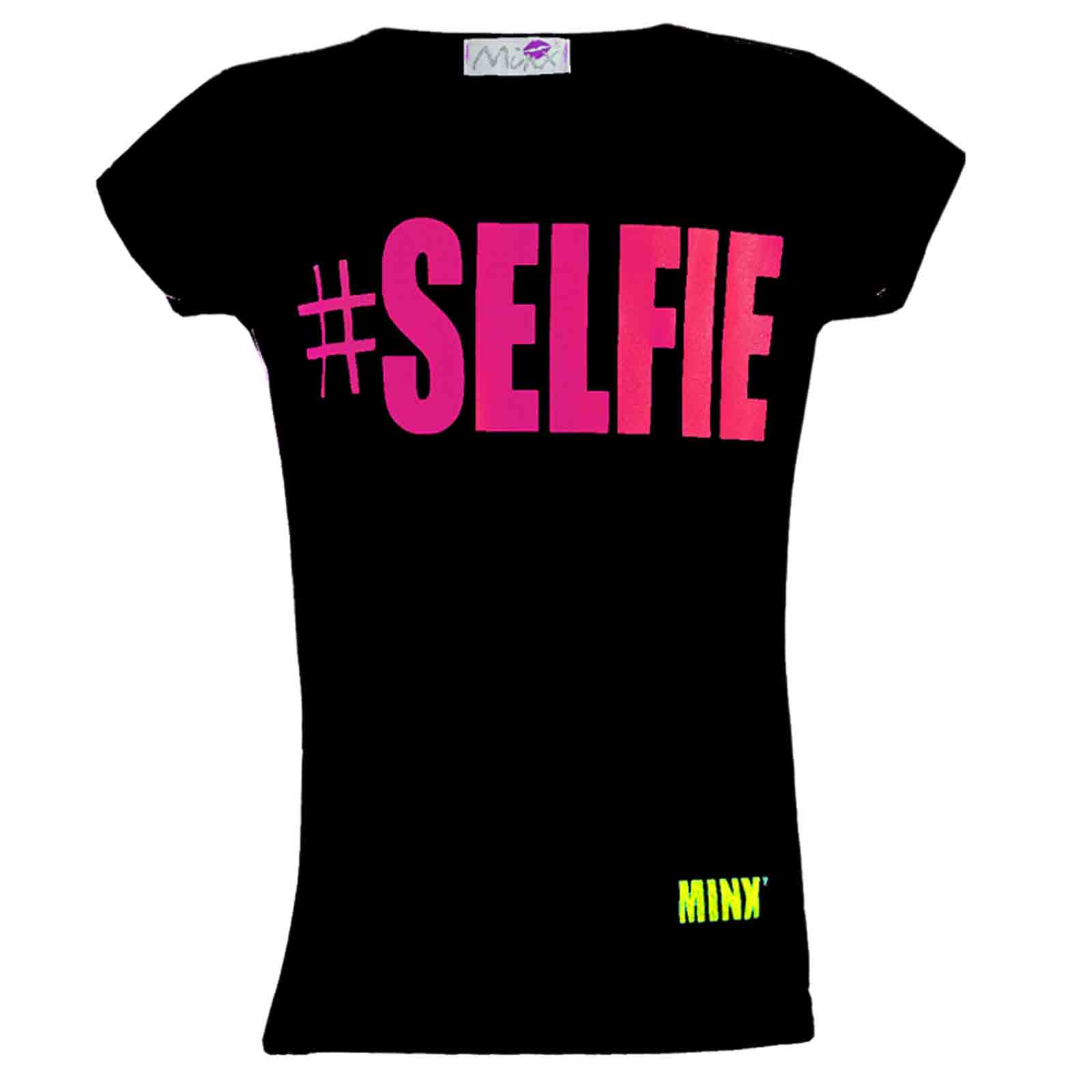 "NEW GIRLS "" # SELFIE "" PRINT STYLISH FASHION FUNKY TOP T SHIRT SIZE 7-13 YEARS"
