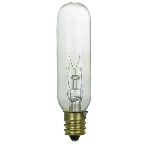 sunlite 15w t6 145v candelabra base clear bulb ebay. Black Bedroom Furniture Sets. Home Design Ideas