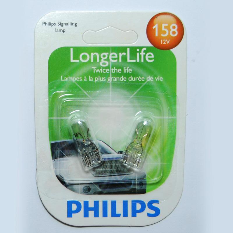 2 Pack Philips 158 5w 12v Long Life Automotive Light Bulb Ebay