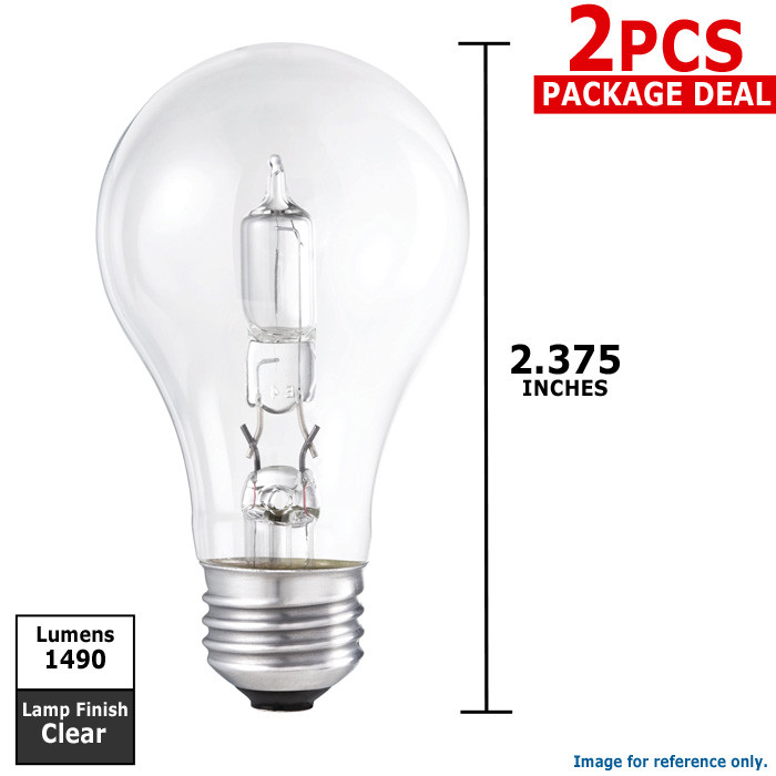 Philips 72w 120v A-Shape A19 Clear E26 EcoVantage Halogen Light Bulb - 2 pack at Sears.com