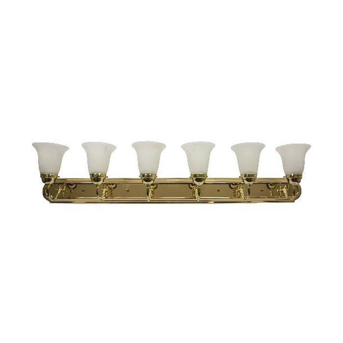 Sunlite B648d Pb Al 6 Light 60w 48 Inch Polished Brass Bath Fixture Ebay