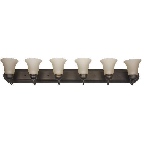 Sunlite 6 light 48in Dusted Brown Vanity Sconce Fixture Tea Stained Glass eBay