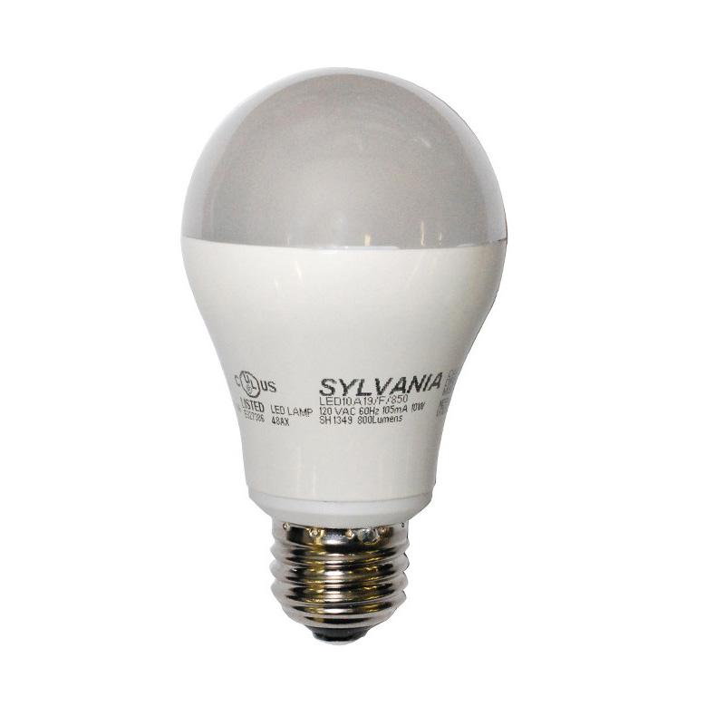 osram sylvania 10w a19 led full spectrum 5000k light bulb 60w replacement. Black Bedroom Furniture Sets. Home Design Ideas