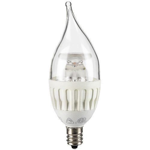SUNLITE 4.5W Candelabra Dimmable LED E12 base Flame Warm White Light Bulb at Sears.com