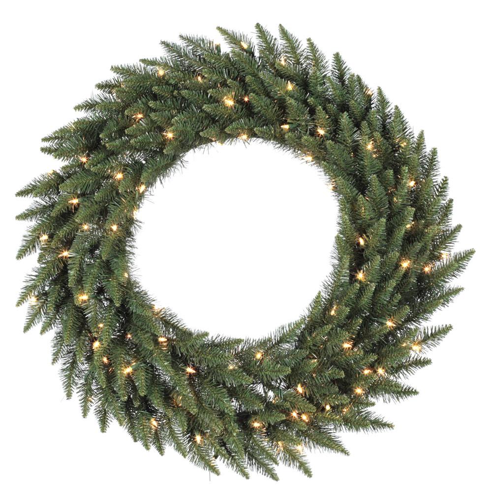 Vickerman 36in. Green 230 Tips Wreath 100 Clear Dura-Lit Lights