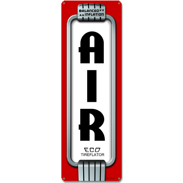 Eco Air Meter Metal Sign 8x24 40s Vintage Gas Station Tire ...