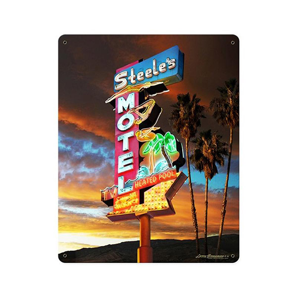 Steele 39 s motel california vintage style grossman metal for Vintage hotel decor