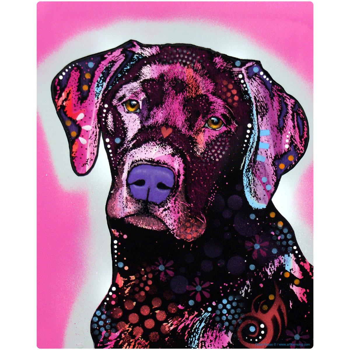 Black Lab Labrador Retriever Dog Dean Russo Wall Decal 12