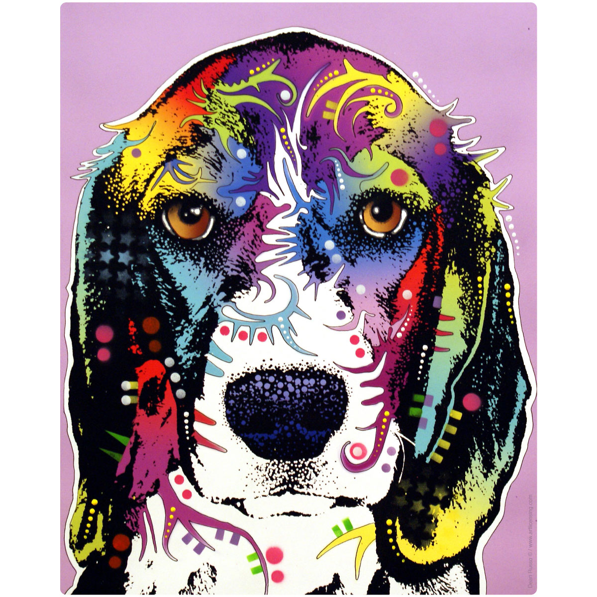 beagle dog dean russo pop art wall decal removable wall art - Dean Russo