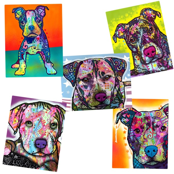 Pit Bulls Dean Russo Dog Vinyl Sticker Set Heart U Laptop