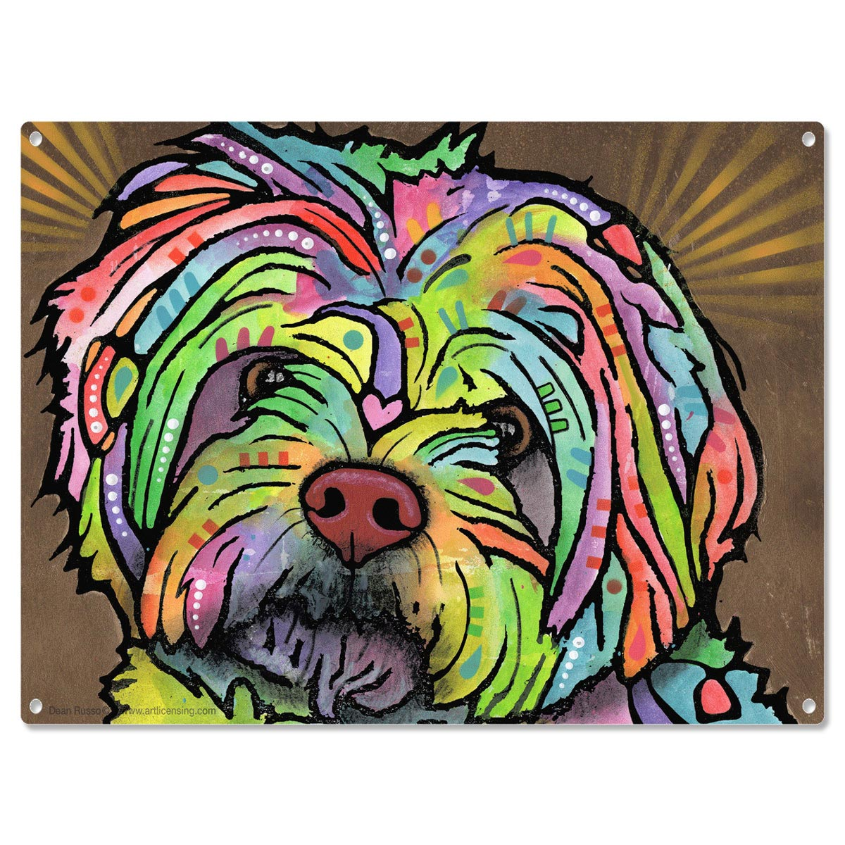 maltese dog dean russo metal sign amy pop art pet decor 16 x 12 - Dean Russo