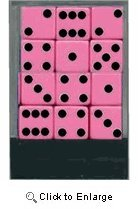 SOJ 1 Dozen Pink Dice with Black Dots BUNCO Set of Twelve 16mm Colorful Dice at Sears.com