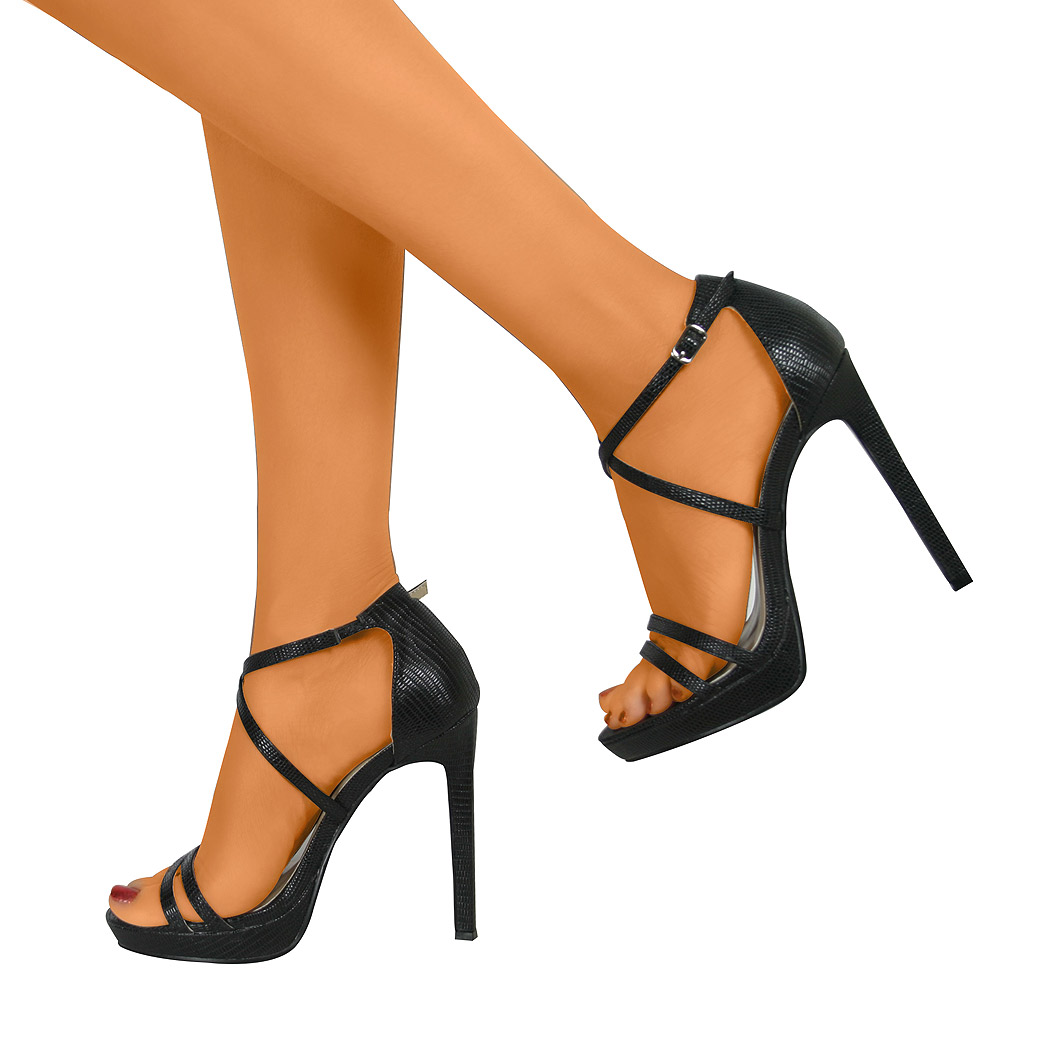 sexy pump with ankle strap