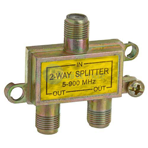 Coaxial Cable Splitter : Way cable tv splitter coaxial coax in out hdtv
