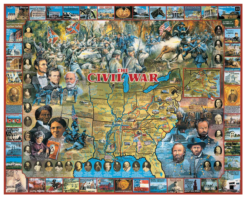 White mountain puzzles civil war 1000 piece jigsaw for Custom 5000 piece puzzle