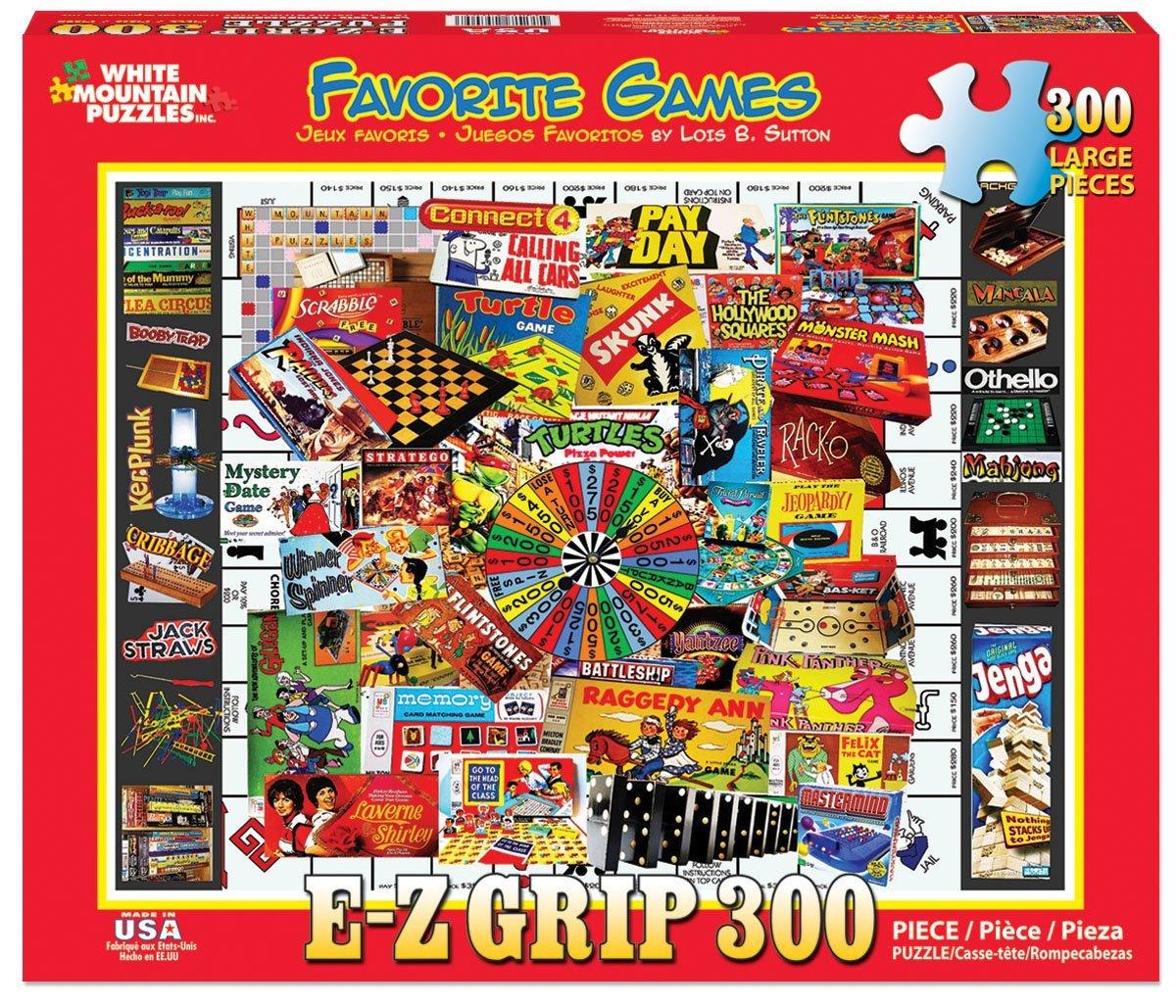 Puzzles Games: White Mountain Puzzles Favorite Games 300 Piece Jigsaw EZ