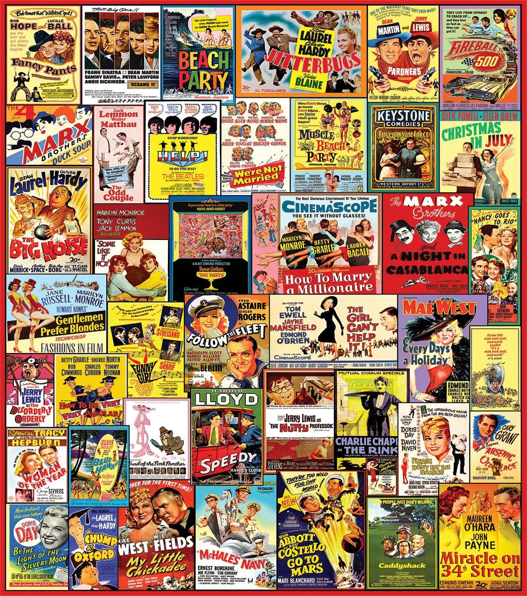 white mountain puzzles comedy movie posters collage 1000