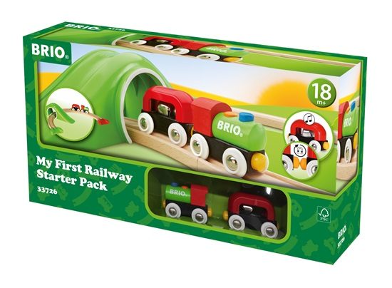 BRIO 9 Piece My First Railway Starter Pack Train Track Toddler Toy