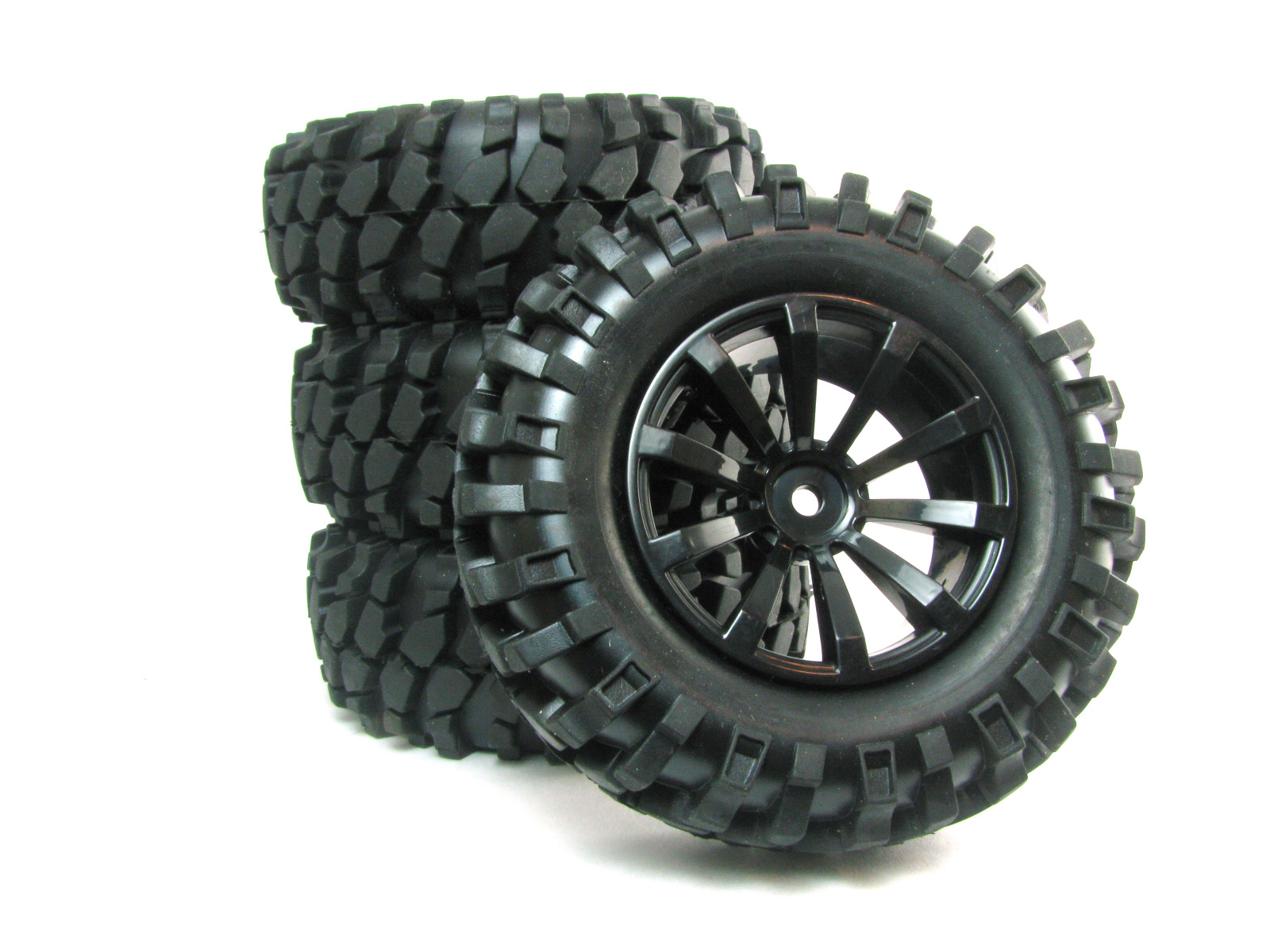 Rock Crawler Wheels : Rock crawler tires with foam inserts and rims set piece