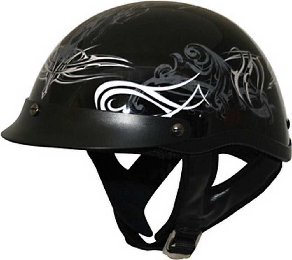 HCI Black Tribal Motorcycle Half Helmet w Visor ABS  : 100 1391 Tribal <strong>Scorpion Helmets</strong> from www.ebay.com size 1001 x 892 jpeg 39kB