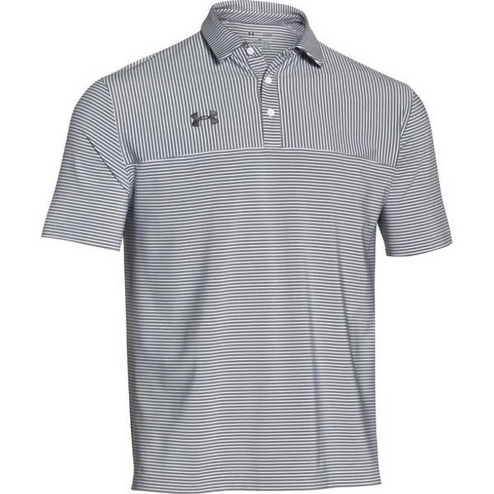 Under armour men 39 s clubhouse striped polo golf shirt for Under armor polo shirts