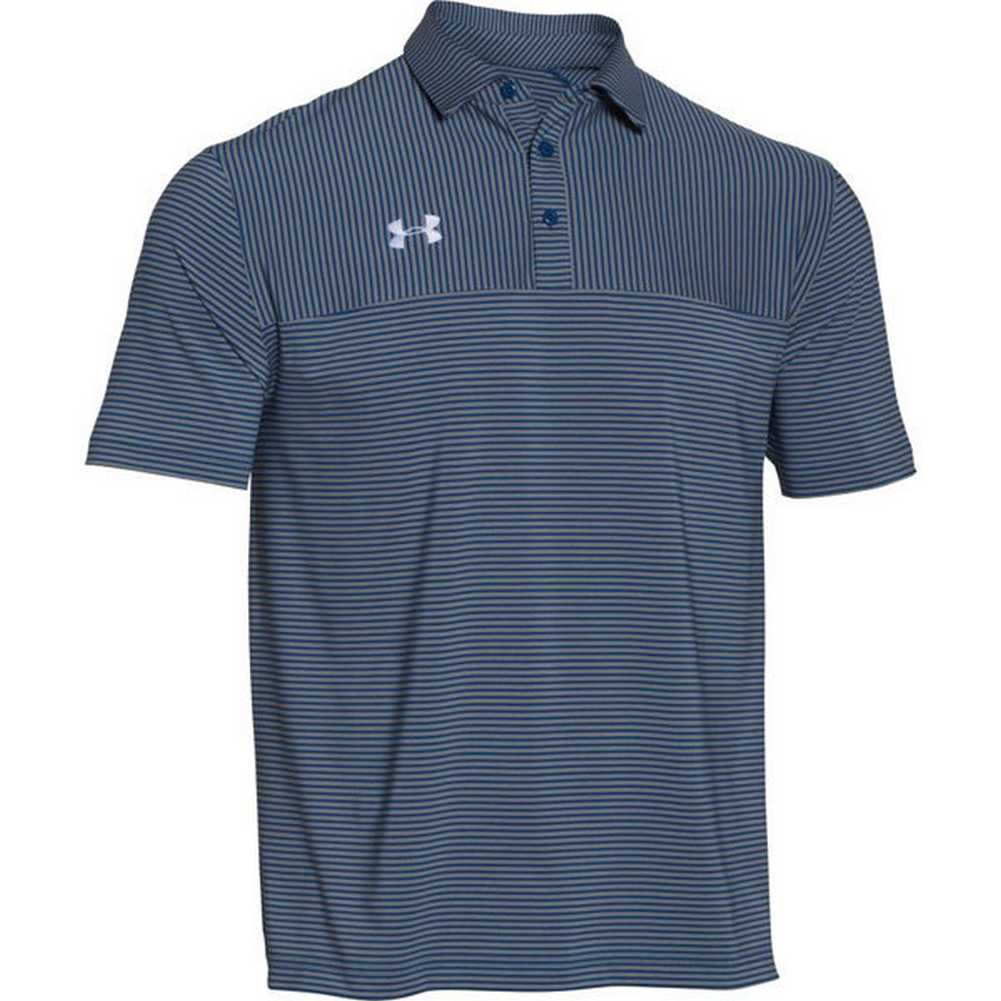 Under armour men 39 s clubhouse striped polo golf shirt for Mint color polo shirt