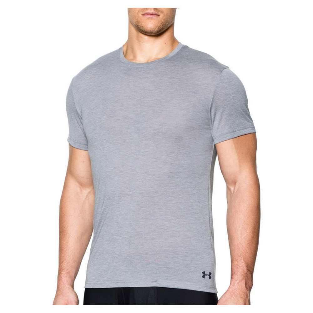 Under armour men 39 s core crew fitted undershirt t shirt for Under armour fitted t shirt