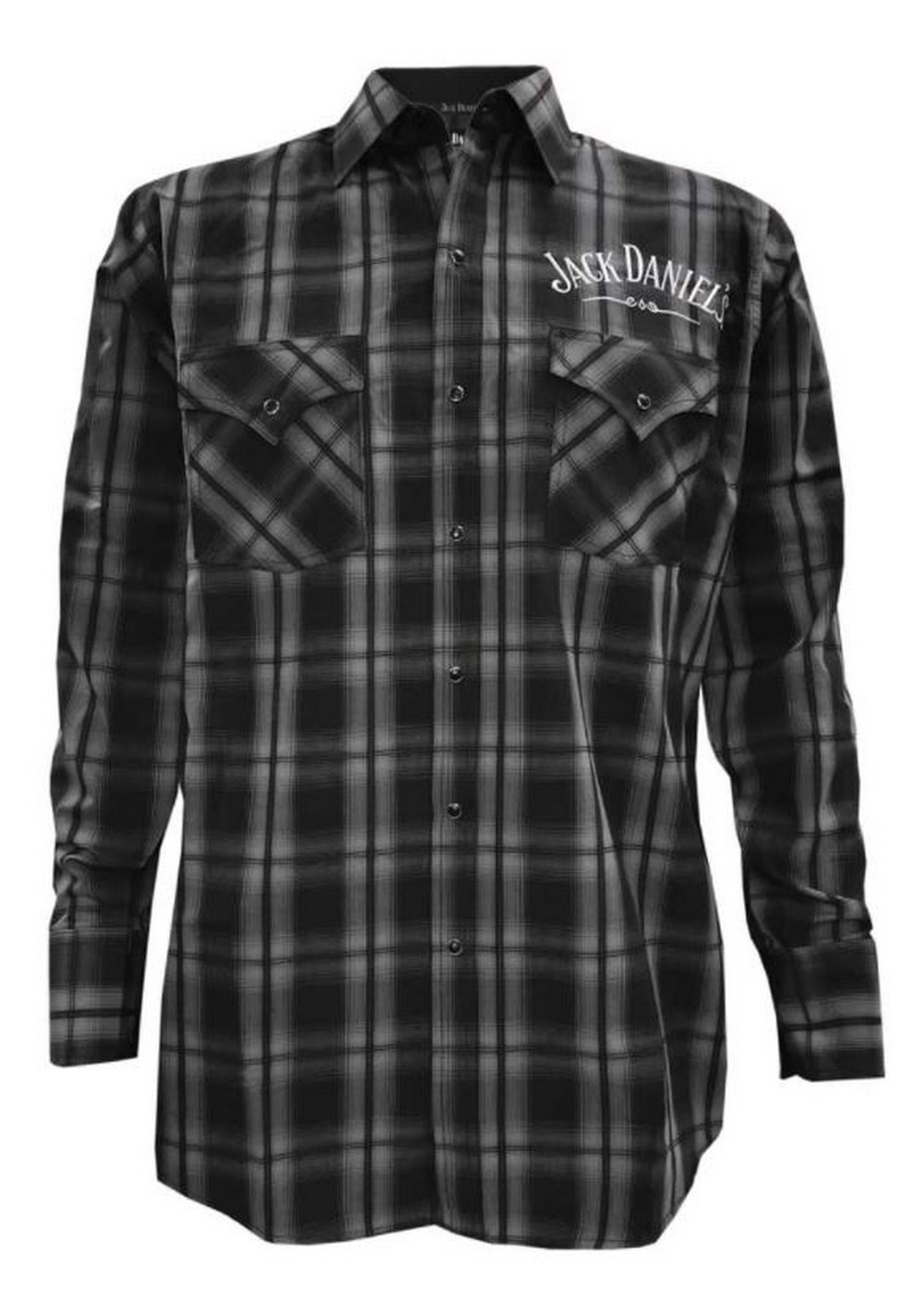 Jack Daniels Men/'s Plaid Embroidery Shirt Cotton Long Sleeve Woven 15203987JD-79