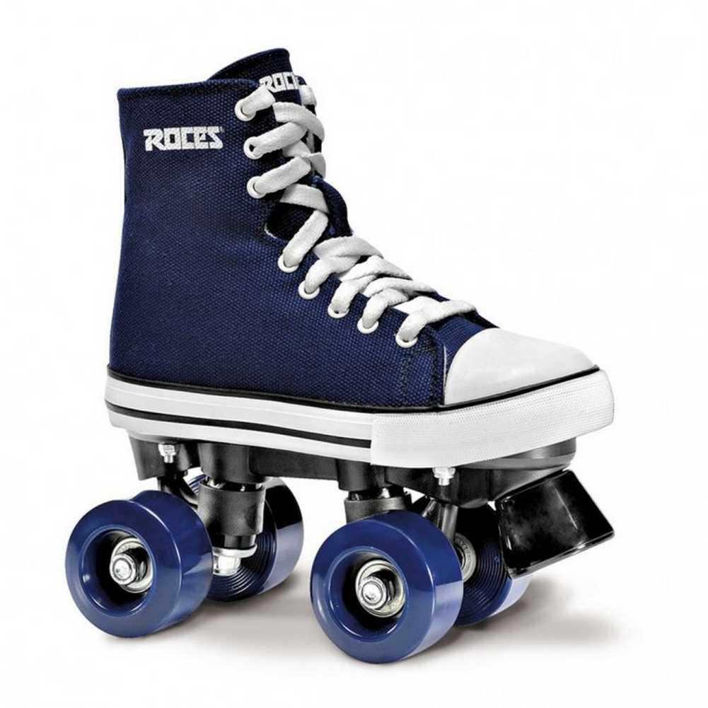 Roller skates blue - Roces Unisex Chuck Classic Roller Skates Blue White Canvas 550030 00001 Uk6