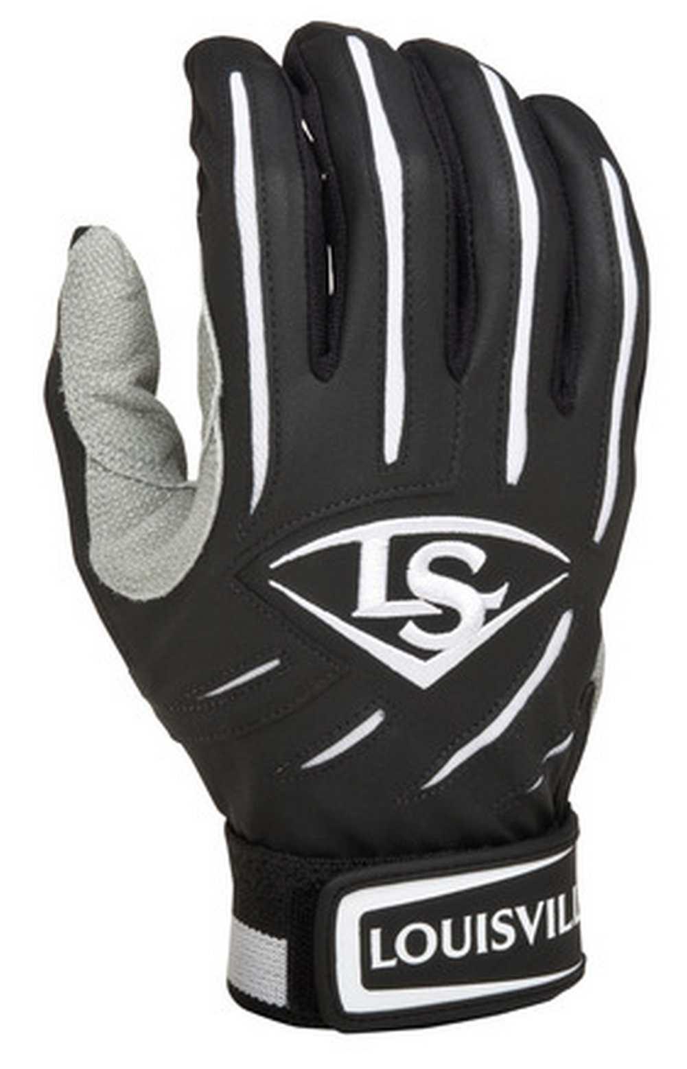 Black leather batting gloves - Louisville Slugger Series 5 Baseball Softball Batting Gloves