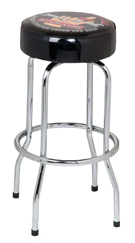 the busted knuckle garage 30quot swivel logo bar stool bkg