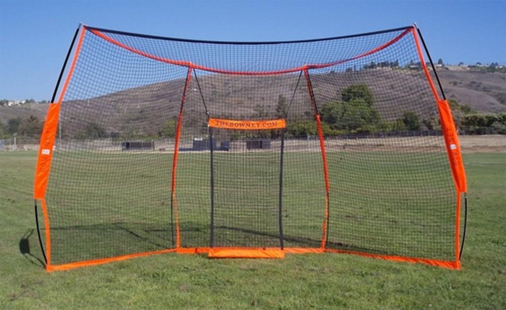 Bownet Portable Backstop Baseball Softball Practice Bow Backstop ...