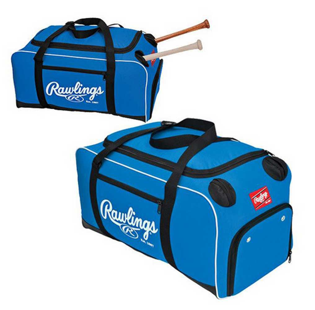 rawlings covert baseball duffle bag side bat storage