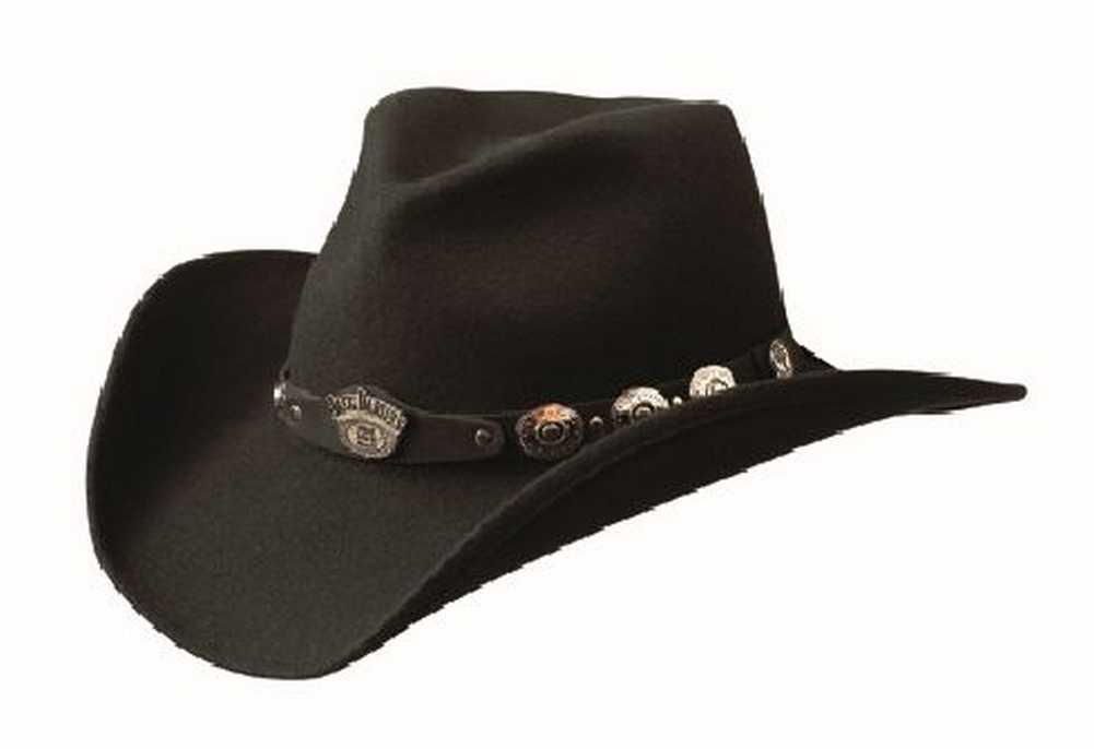 Jack Daniels Men's 100% Crushable Wool Cowboy Hat