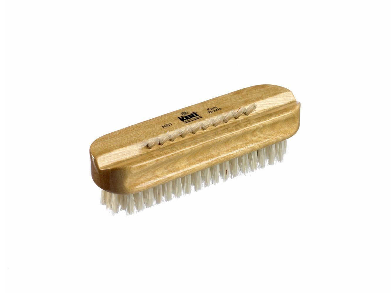 Kent Satin Wood White Bristle Manicure Pedicure Cleaning Scrubbing Nail Brush | EBay