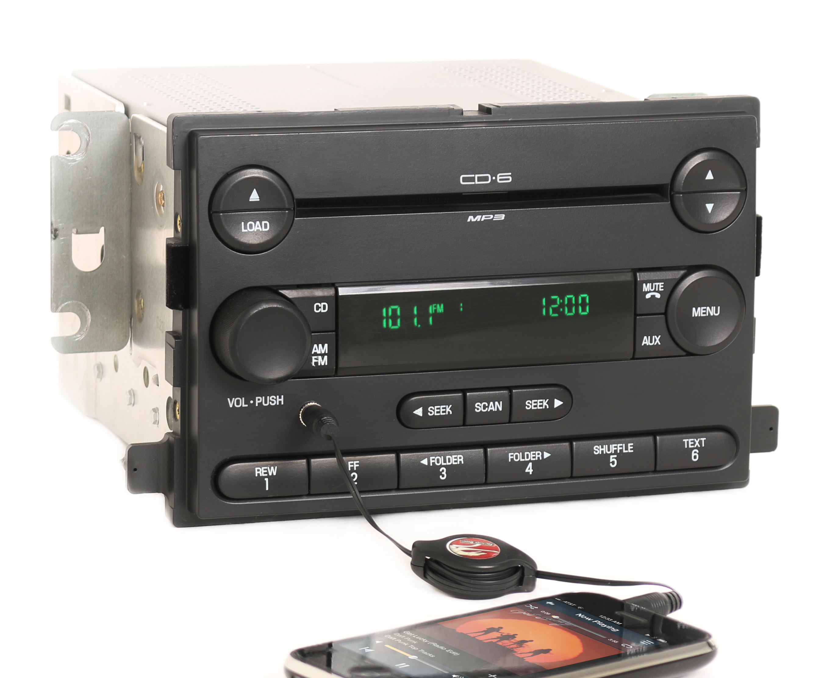 Reman and Aux Mod SERVICE for 2006-2007 Ford Focus Radio AM FM 6 Disc CD  Player - 1 Factory Radio
