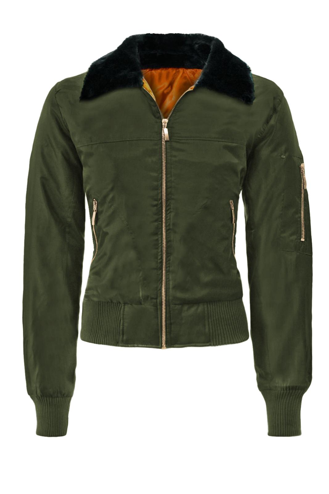 Womens-Vintage-MA1-Bomber-Jacket-Classic-Zip-up-Biker-Jacket-Stylish-Padded-Coat