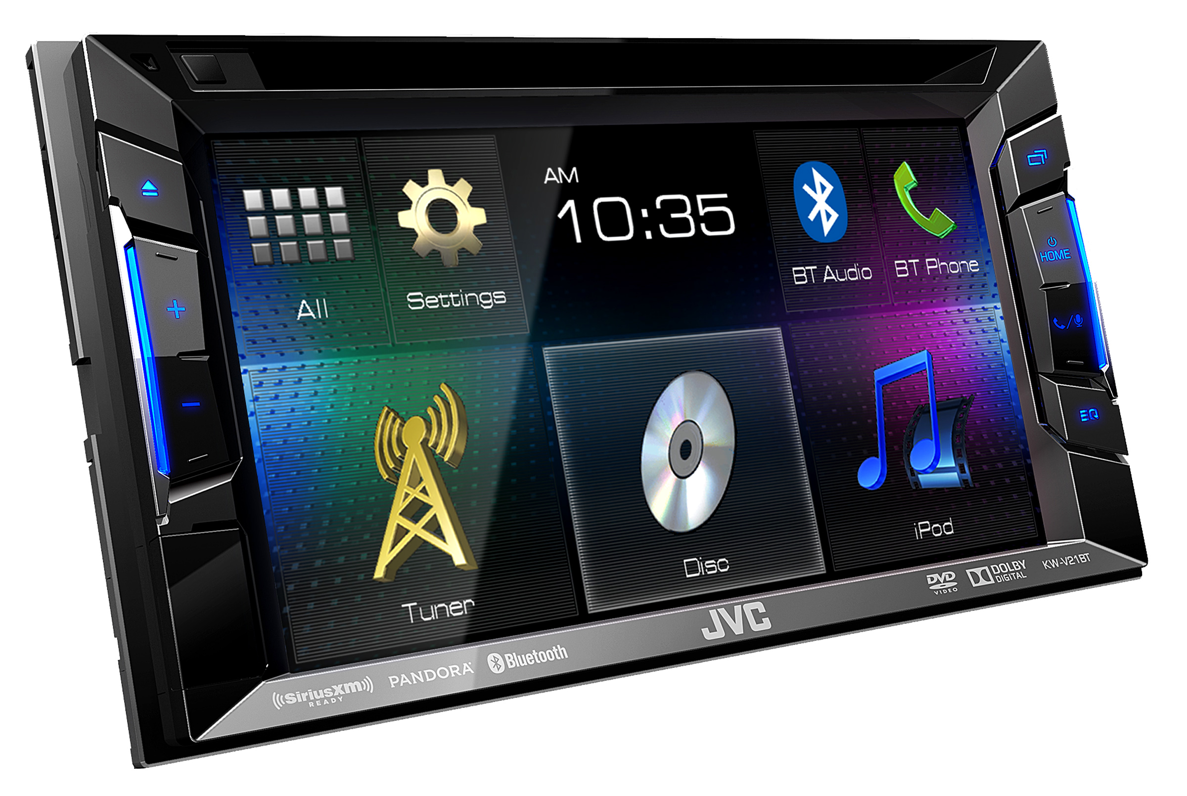 jvc kw v21bt refurb double din bluetooth in dash dvd receiver w 6 2 touchscreen. Black Bedroom Furniture Sets. Home Design Ideas