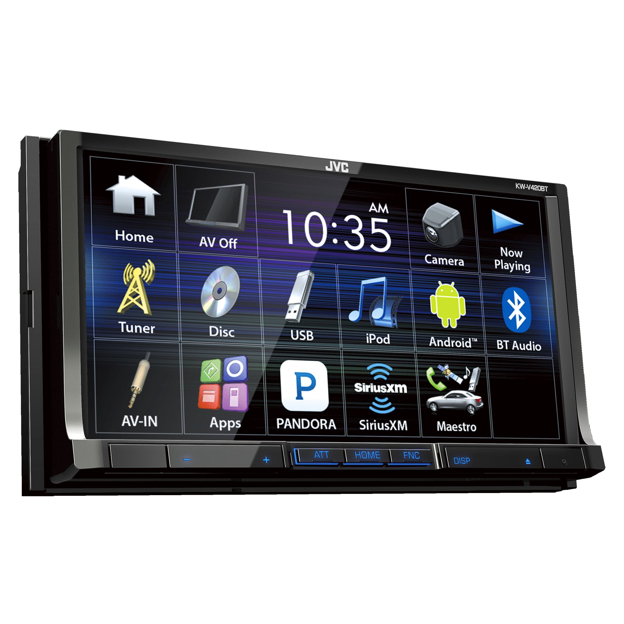 jvc kw v420bt 7 double din touchscreen bt dvd cd am fm in. Black Bedroom Furniture Sets. Home Design Ideas