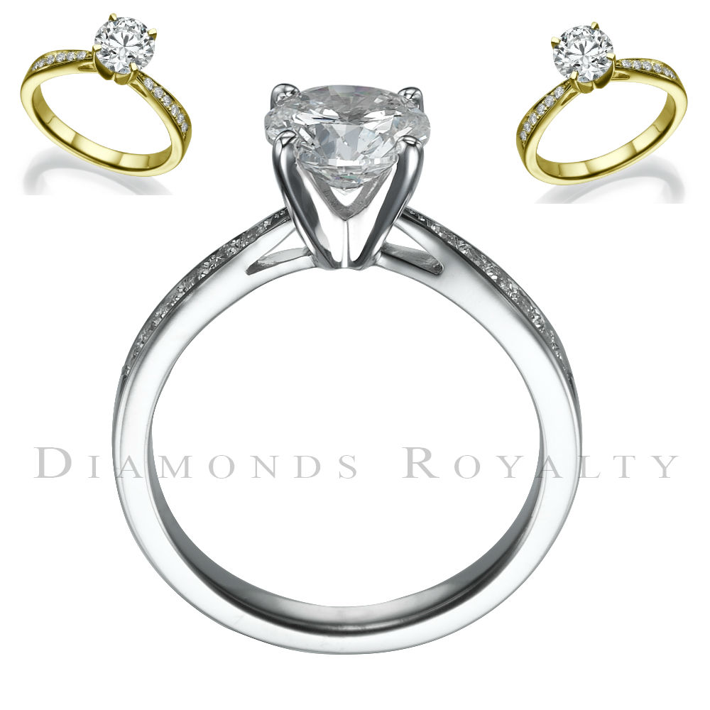 Round Diamond Ring SI1 14 Karat White Gold Womens 2 42 Carats Size 5 5 6 5 7
