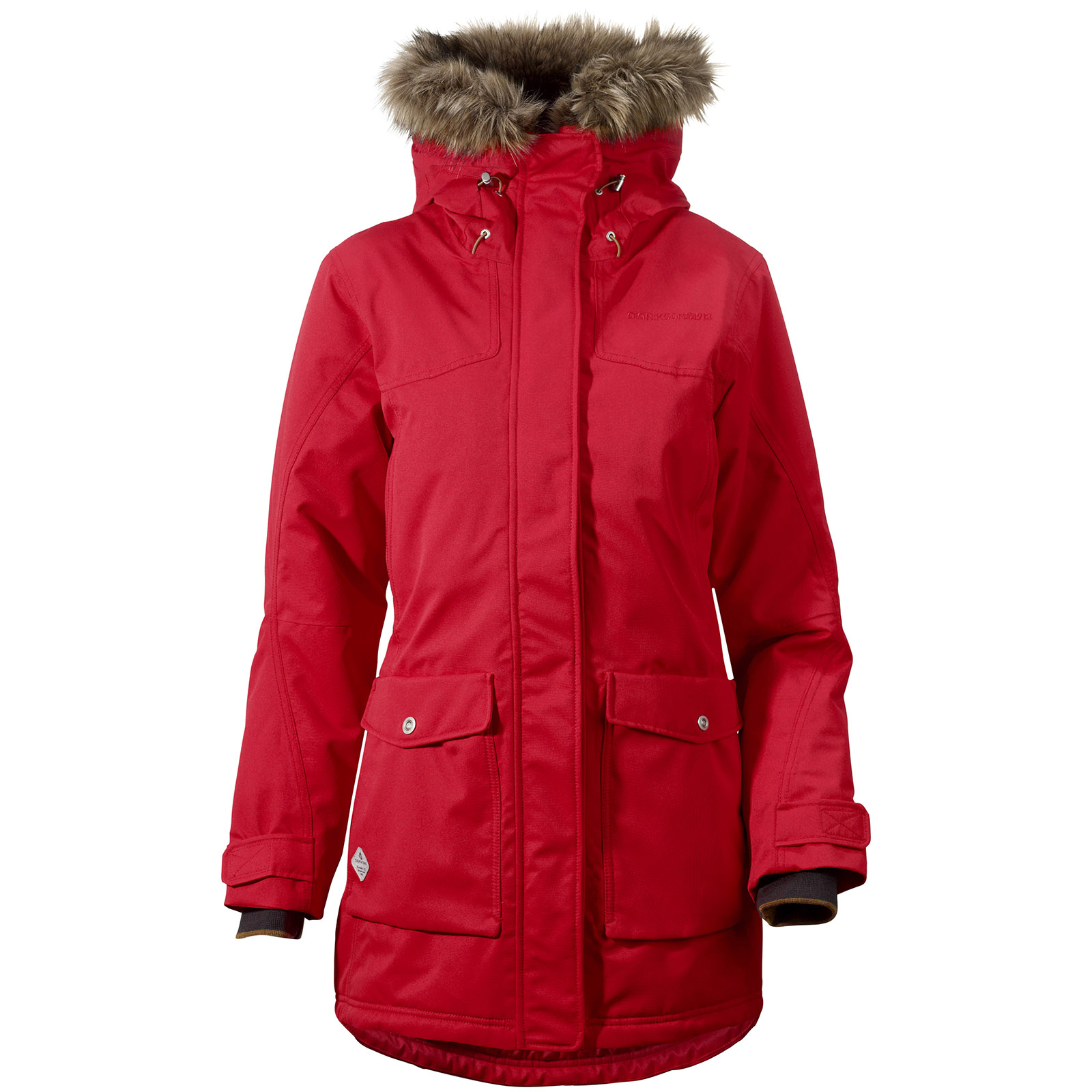 Ladies Red Parka Jacket | Fit Jacket