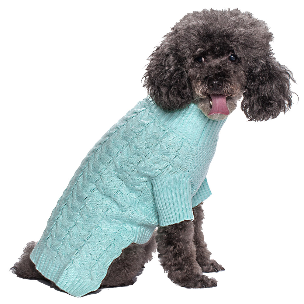 Blueberry pet clothes gifts for dog classic cable knit dog - Knitting for dogs sweaters ...