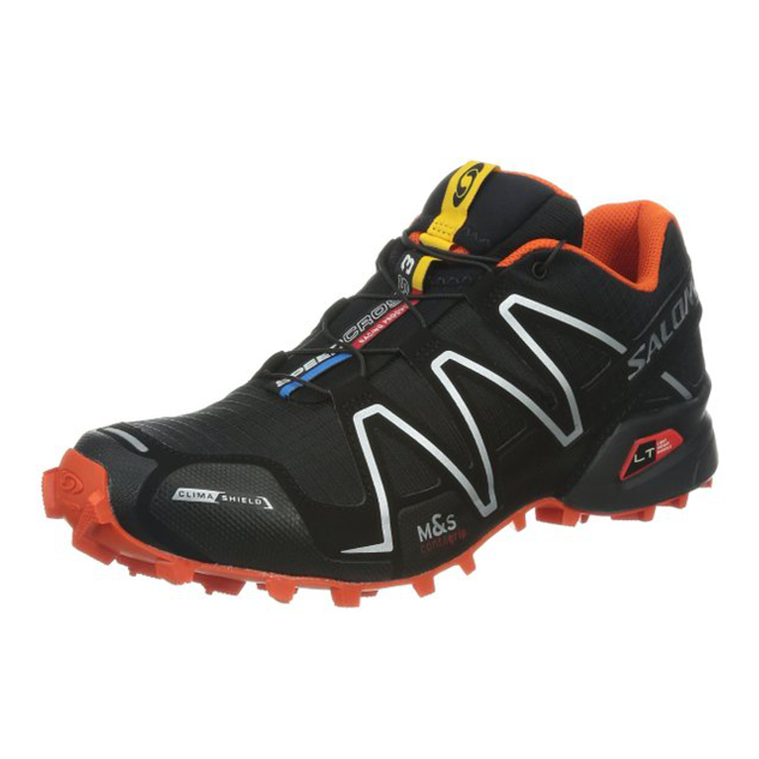 salomon speedcross 3 dark cloud black bright blue