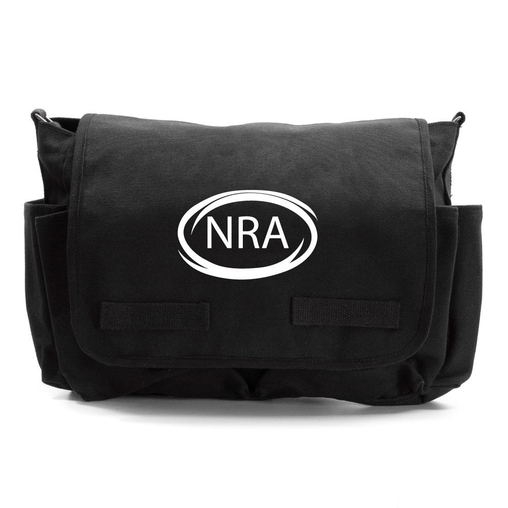 nra national rifle association army heavyweight canvas