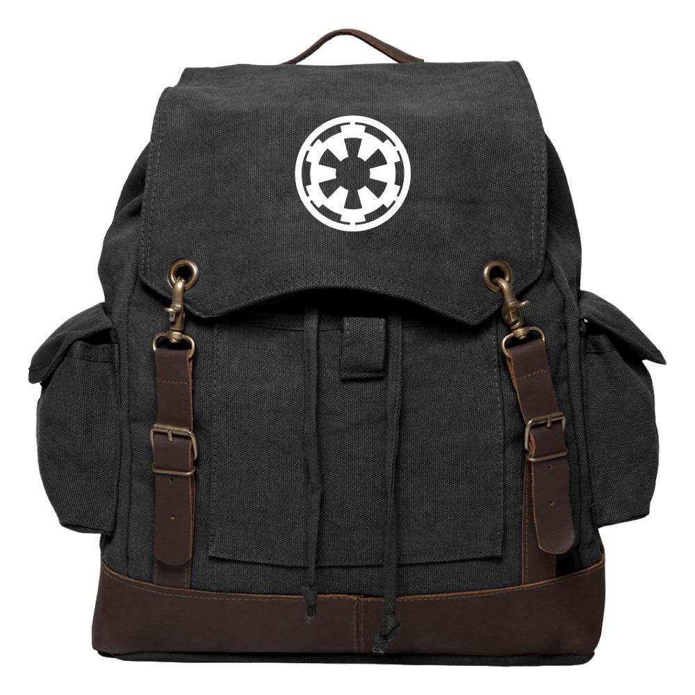 star wars galactic empire vintage canvas rucksack backpack. Black Bedroom Furniture Sets. Home Design Ideas