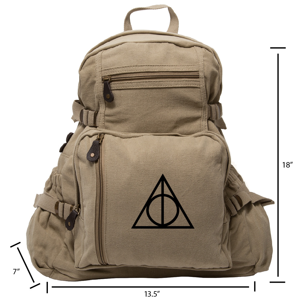 Harry Potter Deathly Hallows Symbol Military Backpack Durable ...