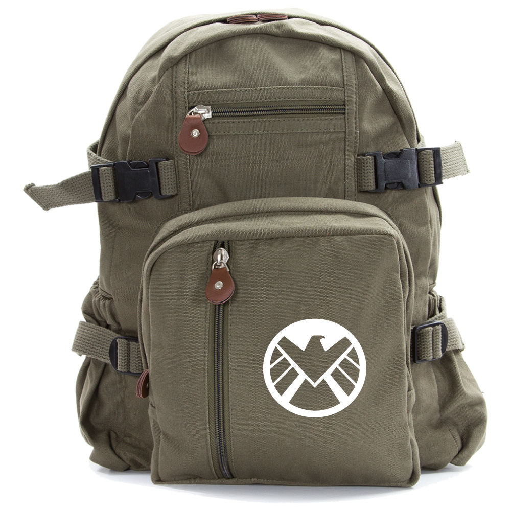 Marvel Agents Of Shield Logo Durable Canvas Military
